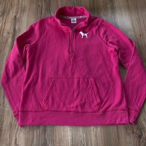 PINK VS Quarter zip crew sweatshirt